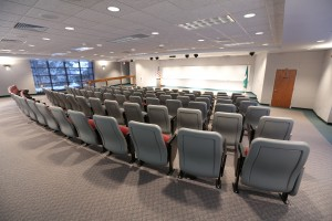 A rear view of the auditorium at the MSU Bioeconomy Instititue in Holland, Mich.