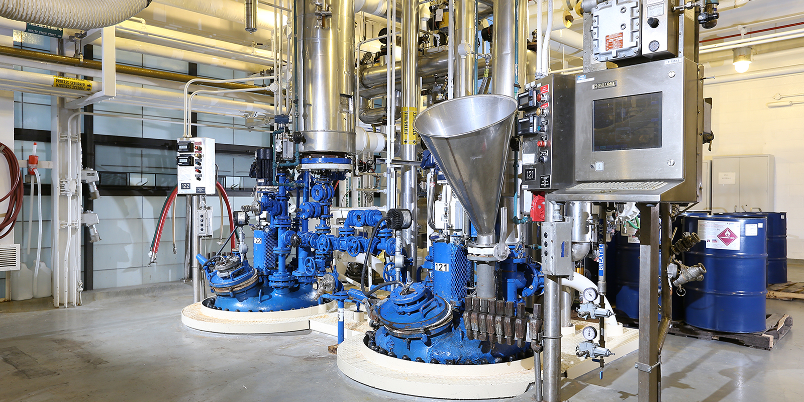 Chemical Scale Up Equipment in plant at MSUBI in Holland