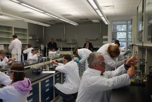 Participants in lab class